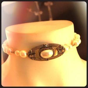 Jewelry - Handmade Art Deco pearl choker